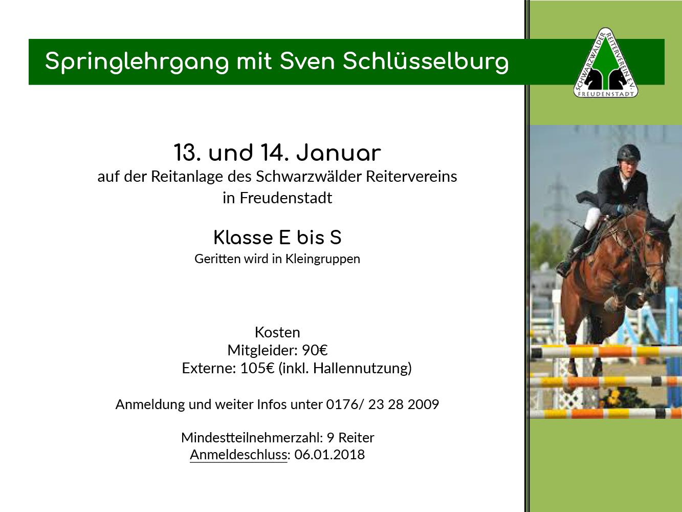 Lehrgang Sven Schlüsselburg